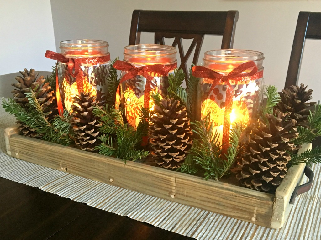 How to make a DIY Christmas centerpiece with rustic charm