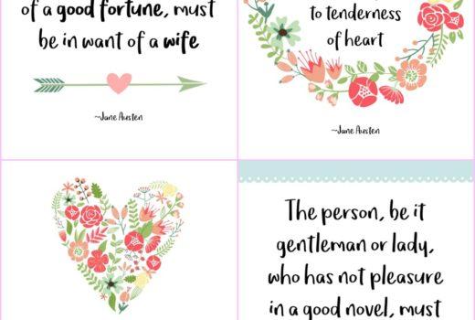 Free printable Jane Austen quotes